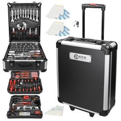 Aluminium Werkzeugkoffer 949 Teilig, schwarz, mit 4 Ebenen, aus Chrom-Vanadium Stahl