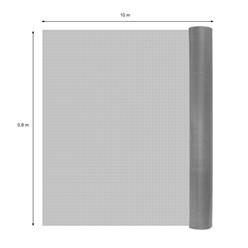 Fliegengitter grau, 0,8x10 m, aus hochwertigem Fiberglas