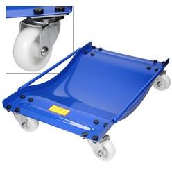 2er Set Rangierhilfe mit Rollen blau, 59.5x13x39 cm, aus Stahl, Tragkraft 900 kg