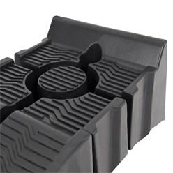 2er Set Auffahrrampe 240 mm, aus Kunststoff, belastbar bis 2.5 Tonnen