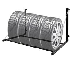 Reifenhalter für Wandmontage zur Lagerung von Reifen, klappbar, bis 150 kg, aus Stahl