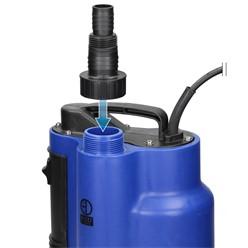 Schmutzwasserpumpe mit Schwimmschalter, 750W, aus PVC