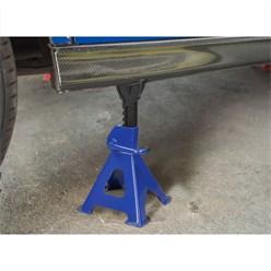 2er Set Unterstellböcke, blau, Traglast 6000 kg, aus Stahl