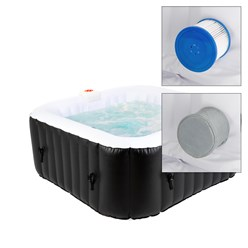 Whirlpool In-/Outdoor Spa eckig, 150x150 cm, aufblasbar