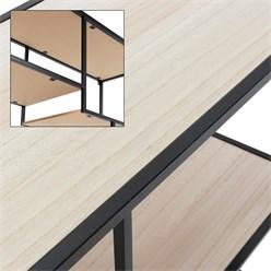 Standregal mit 10 Ablagen, 170x73x32 cm, schwarz/natur, aus Metall und Holz