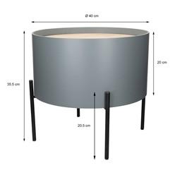 2er Set Beistelltisch rund, Tischplatte und Korpus aus MDF