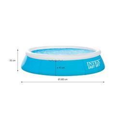 Intex Family Pool rund, Ø 183x51 cm, blau, aufblasbar