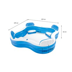 Intex Family Pool rechteck, 229x229x66 cm, blau, aufblasbar