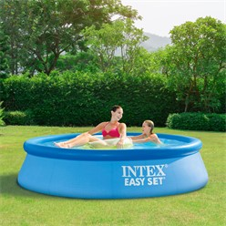 Intex Family Pool rund, 244x244x61 cm, blau, aufblasbar
