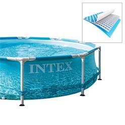 Intex Frame Pool rund, 305x76 cm, blau