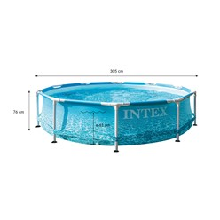 Intex Frame Pool rund, 305x76 cm, blau