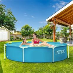 Intex Frame Pool rund, 244x51 cm, blau