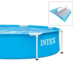 Intex Frame Pool rund, 244x51 cm, blau