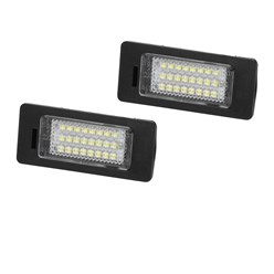 2 x LED-Kennzeichenbeleuchtung mit E-Prüfzeichen BMW