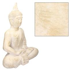 Buddha Figur beige/grau, 51x29x64 cm, aus Kunststein