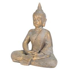 Buddha Kopf Statue bronze, 40x24x48 cm, aus Kunststein
