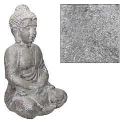 Buddha Figur grau, 24x27x47 cm, aus Kunststein