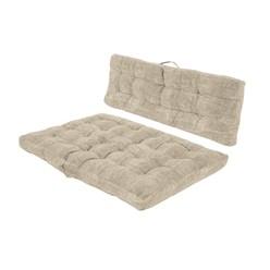 2er Set Palettenkissen braun, 118x79x14 cm, aus Baumwolle