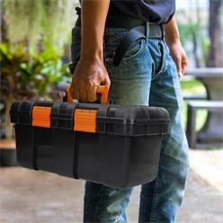 Werkzeugkoffer 50x25x23 cm, mit Zwischenfach aus Hartkunststoff, leer