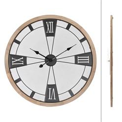 Wanduhr Ø 70 cm, Pinienoptik, aus MDF Holz und Metall