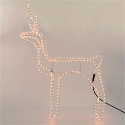Rentier mit LED Birnen 75x98 cm warmweiß 230V