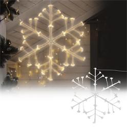Weihnachtsdeko LED Schneeflocke mit 288 warmweißen LEDs aus Metall