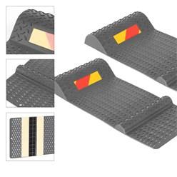 2er Set Parkmatte grau, 52x25 cm, aus PP Kunststoff