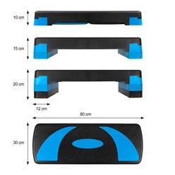 Stepper für Aerobic und Fitness 80x30 cm blau aus Kunststoff