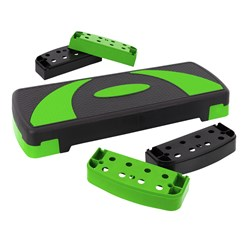 Stepper für Aerobic und Fitness 80x30 cm grün aus Kunststoff