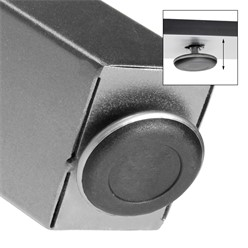 2er Set Tischbeine X-Design grau, 60x72 cm, aus pulverbeschichtetem Stahl
