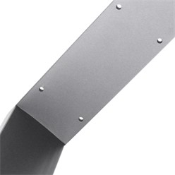 2er Set Tischbeine grau, 80x72 cm, aus pulverbeschichtetem Stahl