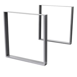 2er Set Tischbeine grau, 60x72 cm, aus pulverbeschichtetem Stahl