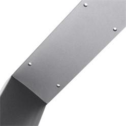 2er Set Tischbeine grau, 40x43 cm, aus pulverbeschichtetem Stahl