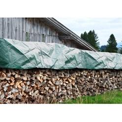Abdeckplane für Holzstapel