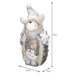 Rentier Figur mit LED Beleuchtung, 53 cm, aus Polyresin