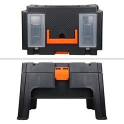 2in1 Tritthocker Werkzeugkiste mit Tragegriff, 50x33x31 cm, aus robuster Kunststoff, belastbar bis zu 130 kg