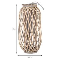 Laterne mit Henkel, 60 x Ø 30 cm