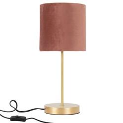 Tischleuchte mit Lampenschirm Ø 18,5x42,5 cm rosa aus Kunststoff