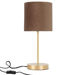 Tischleuchte mit Lampenschirm Ø 18,5x42,5 cm braun aus Kunststoff