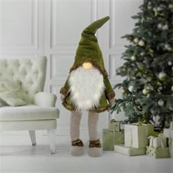 LED Wichtel-Figur 158 cm grün aus Kunststoff und Polyester