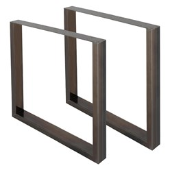 2er Set Tischbeine aus Vierkantprofilen, 90x72 cm, aus Stahl