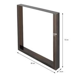 2er Set Tischbeine aus Vierkantprofilen, 80x72 cm, aus Stahl