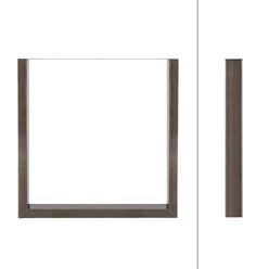2er Set Tischbeine aus Vierkantprofilen, 70x72 cm, aus Stahl