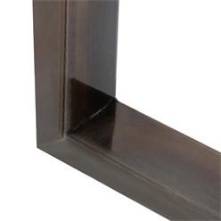 2er Set Tischbeine aus Vierkantprofilen, 60x72 cm, aus Stahl