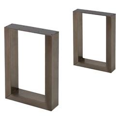 2er Set Tischbeine aus Vierkantprofilen, 40x43 cm, aus Stahl