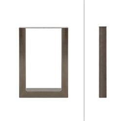 2er Set Tischbeine aus Vierkantprofilen, 30x43 cm, aus Stahl
