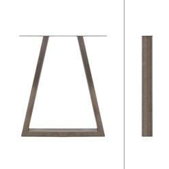 2er Set Tischbeine Trapez Design, anthrazit, 60x72 cm, aus Stahl