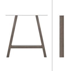 2er Set Tischbeine A-Design, 70x72.5 cm, aus Stahl