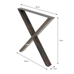 2er Set Tischbeine A-Design, anthrazit, 60x73 cm, aus Stahl