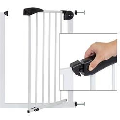 Türschutzgitter weiß, 70-75 cm, ohne Bohren, aus pulverbeschichtet Metall